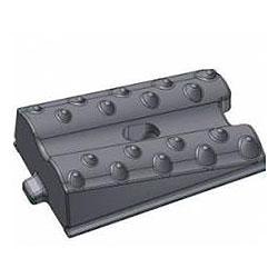 Плита бронефутеровочная конусно-волновая каблучковая